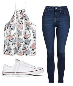 """""""Untitled #530"""" by cuteskyiscute ❤ liked on Polyvore featuring H&M, Topshop and Converse"""