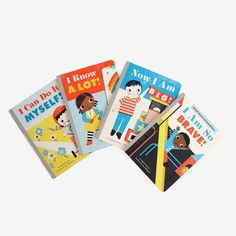 This sweet board book set by Stephen Krensky makes a great gift for toddlers. Illustrated with a playful, retro feel by Sara Gillingham each one celebrates a di