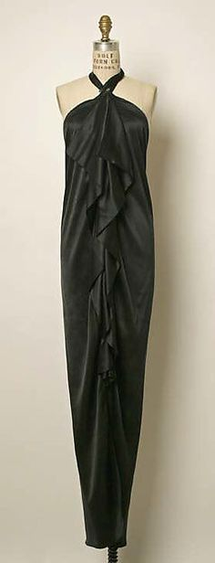 Yves Saint Laurent, Paris | Evening dress | French | ca. 1979