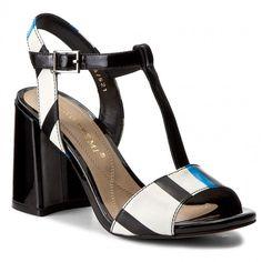 Σανδάλια BRUNO PREMI - Vernice + Stripes K1606N Nero/Blu