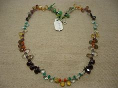 """Natural Multi Stone Multi Shape Faceted 17"""" Beads Fancy Necklace, 98 Cts…"""