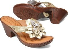 Born Womens Sweetbriar in Papaya Metallic