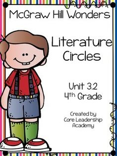 Thinkmark Literature Circle graphic organizer ~ Unit 3.2~There are 4 different levels approaching, on, ell, and advance!  Great for literacy centers! Enjoy!