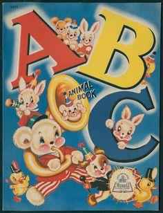 ABC Animal Book 3493 Merrill 1944 BY Milo Winter 5988 | eBay