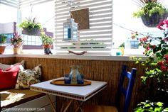 Rental balcony gets a makeover - small balcony ideas