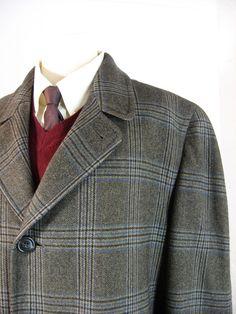 Mad Men 1960s plaid coat. Fabric from Italy.  A Fabulous coat!