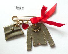Brosche Couture Miniature Poco Loco Unikat von PocoLocoUnikate