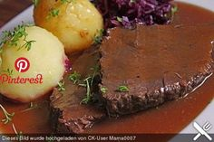 Aloha's mulled wine roast with plum sauce, a very nice recipe from the braising category. Ratings: Average: Ø Aloha's mulled wine roast with plum sauce, a very nice recipe from the braising category. Dutch Recipes, Meat Recipes, French Recipes, German Recipes, Recipies, Slow Cooking, Summer Salads With Fruit, Plum Sauce, Gourmet