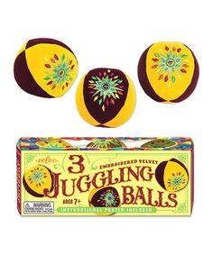 Love this Yellow Juggling Ball Set on #zulily! #zulilyfinds