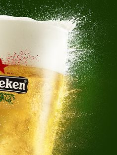 Photograph by Marcel Christ. Heineken, Advertising, Liquid, Still Life