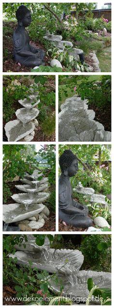 Bachlauf aus Betonblätter selber bauen, Garten Bachlauf #Bachlauf #Garten