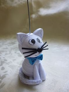 quilled cat - Not Debi's but I'm surely going to give it a try.