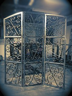 Handmade wrought iron decorative screen via Etsy
