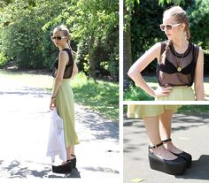 See-Through Metal Top (by THEWHITE PEPPER) http://lookbook.nu/look/3555349-See-Through-Metal-Top
