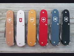 These are beautiful. Alox Cadets swiss army knives