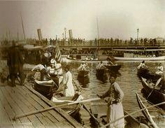 Eski İstanbul / Galata KöprüsüAbdullah Fréres fotoğrafı