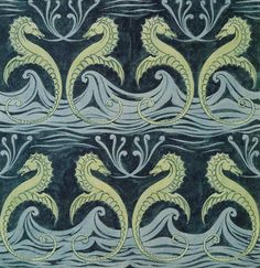 Wallpaper design by C F A Voysey, produced in 1887