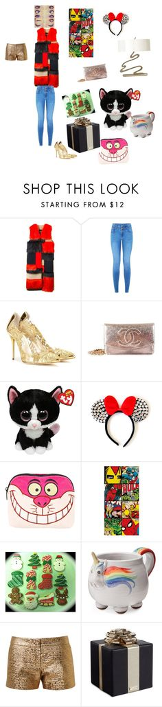 """""""cupcac"""" by jacksepticfan ❤ liked on Polyvore featuring MSGM, Oscar de la Renta, Chanel, Disney, Marvel, Elwood, Lanvin, Kate Spade, women's clothing and women's fashion"""
