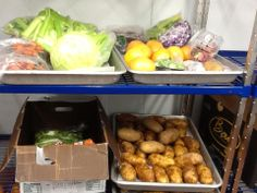 Behind the scenes... Celery, tomatoes, cabbage, grapefruit, carrots, berries, potatoes. Shelves of fresh produce just like this fill walk-in refrigerators all across GCISD just waiting to be chopped and served as a side dish or stirred into a healthy main dish. McDonalds wishes their coolers were as beautiful as ours! — at Grapevine-Colleyville ISD (TX).