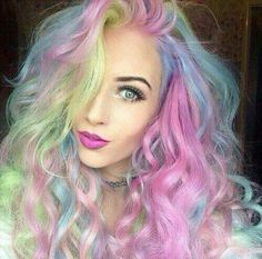 Loving this multicoloured look! Absolutely fab! Eye pigments are so versatile can be used as hair colour, nail colour and eye colour!  http://www.youniqueproducts.com/PaigeNewman