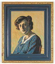 Portrait of the artist's wife Edith Willumsen - Jens Ferdinand Willumsen