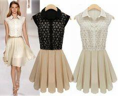 Vestido Chiffon Preto ou Branco (sob encomenda)