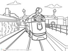 Chuggington Coloring Pages Wilson For Kids Printable Free ColoringPage