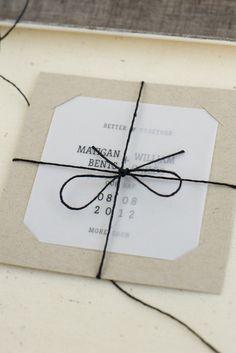 2 hojas de papel cebolla separadas que juntas forman una invitación.  By @tokketok