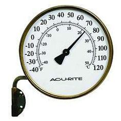 Brass Outdoor Thermometer on Swing Arm