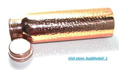 Hand Hammered Pure Copper Water Bottle For Ayurvedic Health Benefits Joint Free #Buddha4all