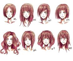 A variety of different hair styles to try and sketch :) who wants to try? :D