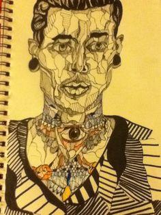 Lauren Wrench: Ink drawing