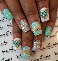 Instagram photo of acrylic nails by botanicnails- 3D nail art... love it <3