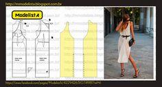 ModelistA: TRANSPARÊNCIA #vestido sencillo #costura