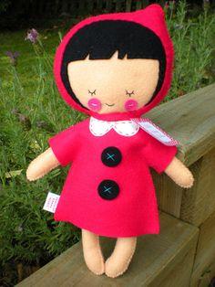 Little Red Riding Hood Felt Plush by littlehappystitches on Etsy, $25.00