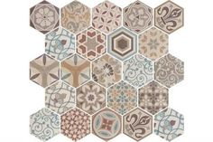 If your looking to create a statement floor then these Hexagon tiles really could be the answer.Perfect for a vintage bathroom, kitchen or hallway they come in a random selection of designs per box. Think outside the box and use as a wall tile for a modernist feature wall.Also check out our Hexagon Harmony and Nature ranges for a quirky patterned style.