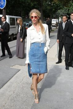 How To Style Blue Denim Skirts Like A Celebrity | Fashion Style For Girls