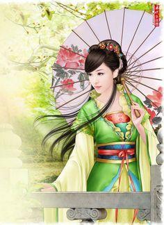 Huaban ( anroid ap ) Chinese Drawings, Chinese Art, Drowning Art, Girl Arm Tattoos, Geisha Art, Beautiful Fantasy Art, Fantasy Paintings, Korean Art, Japan Art