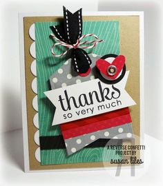 Reverse Confetti | Lots to Say, So Stripey [Thank You Card]