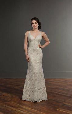 889 Fashionable Boho Wedding Dress by Martina Liana