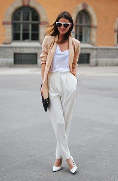 I like the idea of a white wedge or flats I am wondering how cute it will be in 2014 for early spring.... or whenever