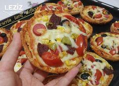 Hamburger Ekmeği Pizzası (Daha Yumusak Ve Daha Doyurucu) - Leziz Yemeklerim Vegetable Pizza, Salsa, Mexican, Vegetables, Ethnic Recipes, Food, Instagram, Gravy, Salsa Music