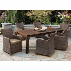 80 best deck renovation images outdoor dining set 7 piece dining rh pinterest com