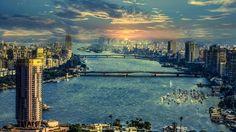 The River Nile in Cairo HD Wallpaper