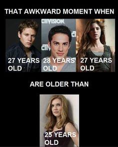 Aquele momento estranho quando você percebe que o Matt, o Tyler e a Vick .. são mais velhos do que a Tia Jenna ...