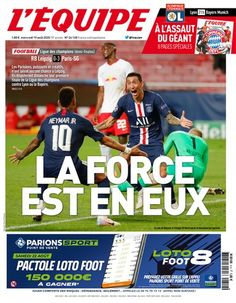 Toutes les éditions L'Équipe et magazines - L'Équipe Neymar, Champions League, Parions Sport, France Football, Newspaper Cover, Psg, Munich, Baseball Cards, Sports