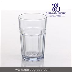 Pressed machne made transparent glass tumbler for water drinking, for home using