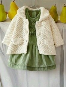 This crochet baby jacket pattern will keep your baby toasty warm this winter. Get the pattern at Craftsy. Baby Knitting Patterns, Knitting For Kids, Baby Patterns, Knitting Ideas, Color Patterns, Baby Outfits, Kids Outfits, Crochet Baby Jacket, Knitted Baby Clothes