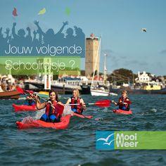 Wad kanoën tijdens een schoolreis op Terschelling! www.schoolreisnaarterschelling.nl