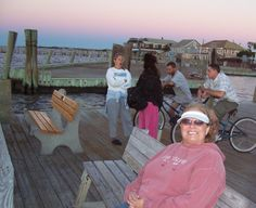 Waiting by the docks for the Ferry on Fire Island